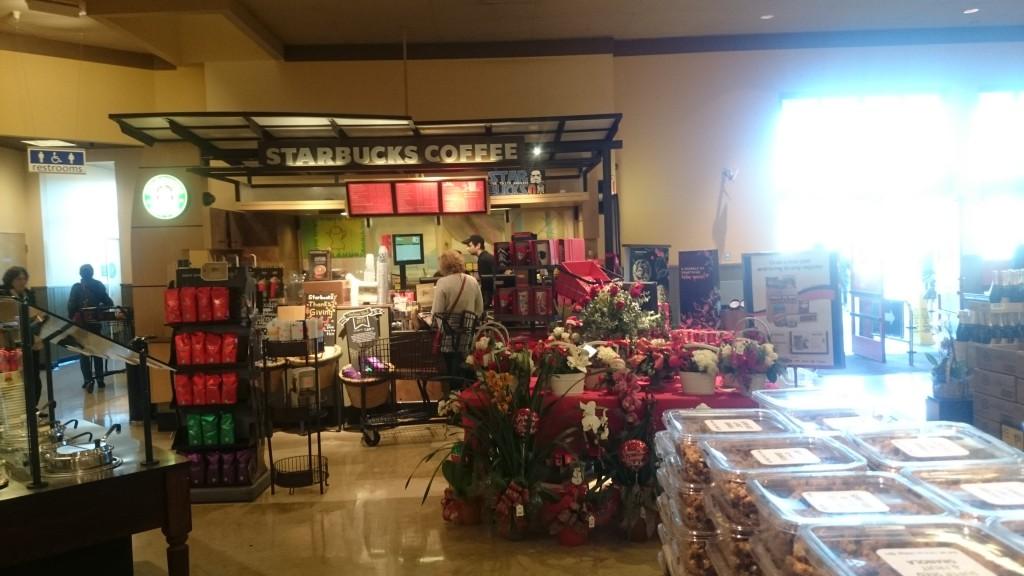 Starbucks statt Bäcker. naja immerhin klingen backs und backwaren ja halbwegs ähnlich. Und beide verkaufen belegte Schrippen und Kaffee.
