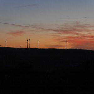 Windräder, Eifel, Himmelmalerei, Abendrot, Eifeler Himmel
